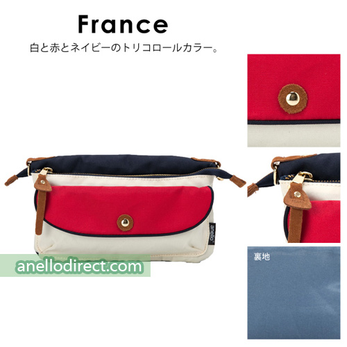 Anello Polyester Canvas Pakapaka Shoulder Bag & Clutch AT-B1223 France Japan Original Official Authentic Real Genuine Bag Free Shipping Worldwide Special Discount Low Prices Great Offer