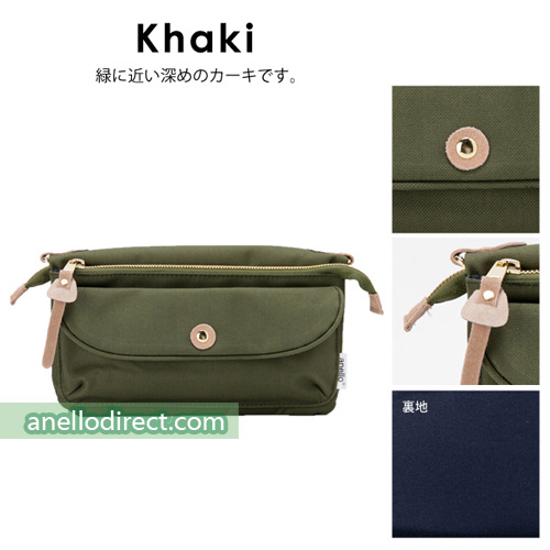 Anello Polyester Canvas Pakapaka Shoulder Bag & Clutch AT-B1223 Khaki Japan Original Official Authentic Real Genuine Bag Free Shipping Worldwide Special Discount Low Prices Great Offer