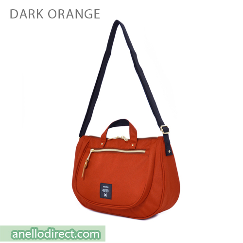 Anello Oval Type Polyester Canvas Shoulder Bag AT-B1229 Dark Orange Japan Original Official Authentic Real Genuine Bag Free Shipping Worldwide Special Discount Low Prices Great Offer