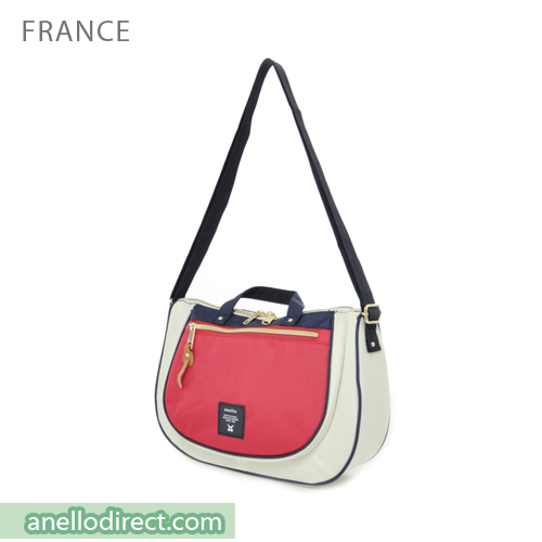 Anello Oval Type Polyester Canvas Shoulder Bag AT-B1229 France Japan Original Official Authentic Real Genuine Bag Free Shipping Worldwide Special Discount Low Prices Great Offer