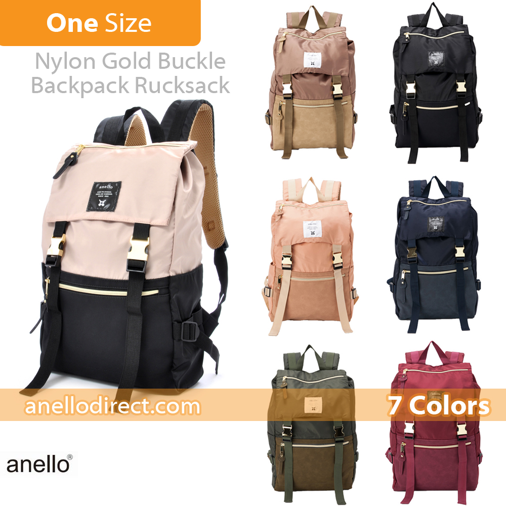 Anello Nylon Gold Buckle Backpack Rucksack AT-B1493 Review 3
