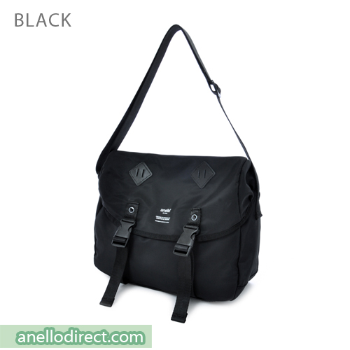 Anello High Density Polyester Messenger Shoulder Bag Regular Size AT-B1621 Black Japan Original Official Authentic Real Genuine Bag Free Shipping Worldwide Special Discount Low Prices Great Offer