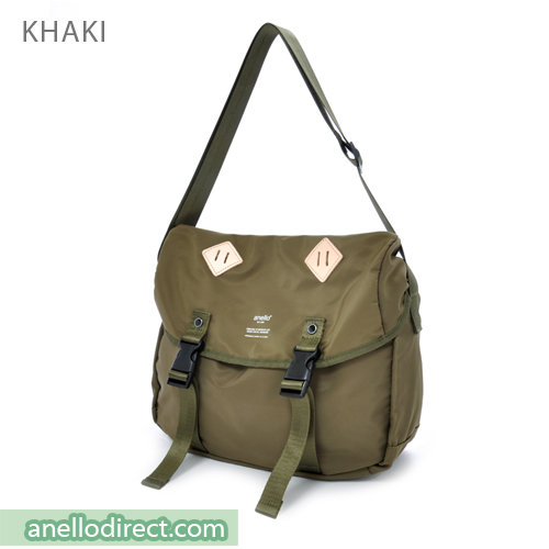 Anello High Density Polyester Messenger Shoulder Bag Regular Size AT-B1621 Khaki Japan Original Official Authentic Real Genuine Bag Free Shipping Worldwide Special Discount Low Prices Great Offer