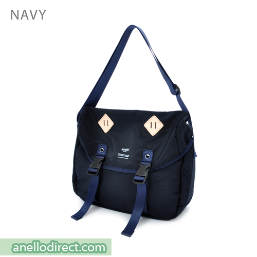 Anello High Density Polyester Messenger Shoulder Bag Regular Size AT-B1621 Navy Japan Original Official Authentic Real Genuine Bag Free Shipping Worldwide Special Discount Low Prices Great Offer
