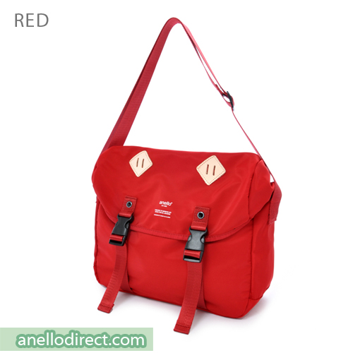 Anello High Density Polyester Messenger Shoulder Bag Regular Size AT-B1621 Red Japan Original Official Authentic Real Genuine Bag Free Shipping Worldwide Special Discount Low Prices Great Offer
