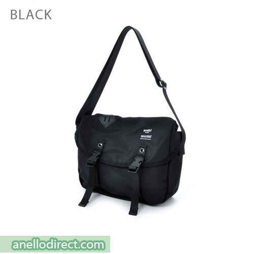 Anello High Density Polyester Messenger Shoulder Bag Mini Size AT-B1622 Black Japan Original Official Authentic Real Genuine Bag Free Shipping Worldwide Special Discount Low Prices Great Offer