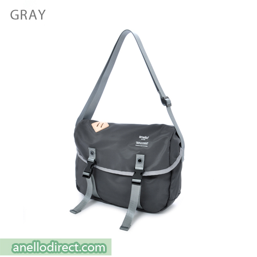 Anello High Density Polyester Messenger Shoulder Bag Mini Size AT-B1622 Gray Japan Original Official Authentic Real Genuine Bag Free Shipping Worldwide Special Discount Low Prices Great Offer