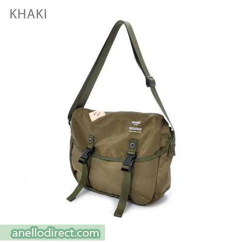 Anello High Density Polyester Messenger Shoulder Bag Mini Size AT-B1622 Khaki Japan Original Official Authentic Real Genuine Bag Free Shipping Worldwide Special Discount Low Prices Great Offer