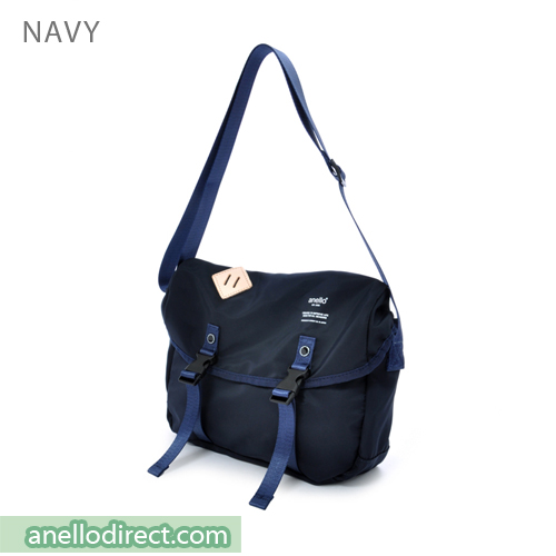 Anello High Density Polyester Messenger Shoulder Bag Mini Size AT-B1622 Navy Japan Original Official Authentic Real Genuine Bag Free Shipping Worldwide Special Discount Low Prices Great Offer
