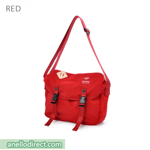 Anello High Density Polyester Messenger Shoulder Bag Mini Size AT-B1622 Red Japan Original Official Authentic Real Genuine Bag Free Shipping Worldwide Special Discount Low Prices Great Offer