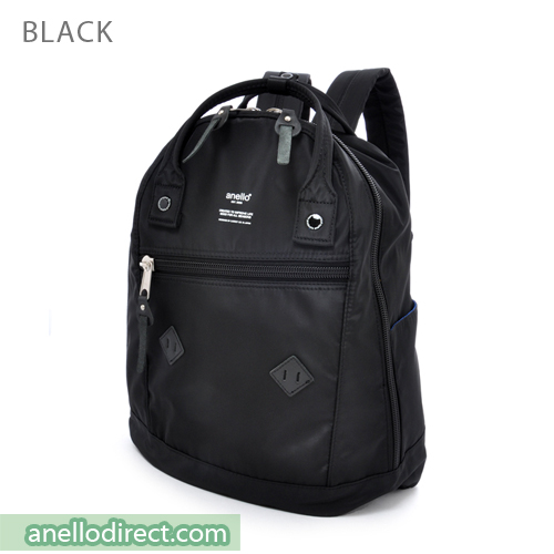 Anello Logo Print High Density Nylon Backpack Rucksack AT-B1623 Black Japan Original Official Authentic Real Genuine Bag Free Shipping Worldwide Special Discount Low Prices Great Offer