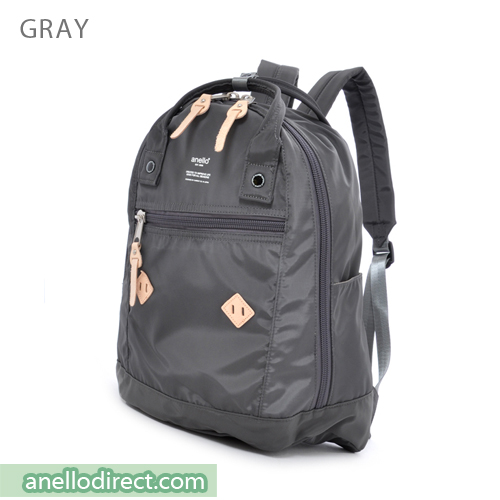 Anello Logo Print High Density Nylon Backpack Rucksack AT-B1623 Gray Japan Original Official Authentic Real Genuine Bag Free Shipping Worldwide Special Discount Low Prices Great Offer