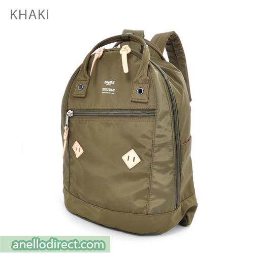 Anello Logo Print High Density Nylon Backpack Rucksack AT-B1623 Khaki Japan Original Official Authentic Real Genuine Bag Free Shipping Worldwide Special Discount Low Prices Great Offer