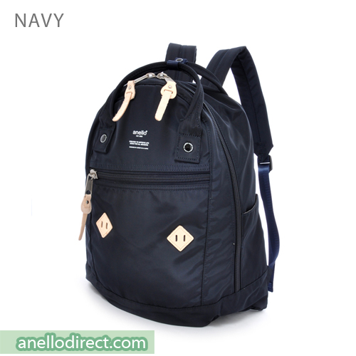 Anello Logo Print High Density Nylon Backpack Rucksack AT-B1623 Navy Japan Original Official Authentic Real Genuine Bag Free Shipping Worldwide Special Discount Low Prices Great Offer