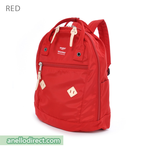 Anello Logo Print High Density Nylon Backpack Rucksack AT-B1623 Red Japan Original Official Authentic Real Genuine Bag Free Shipping Worldwide Special Discount Low Prices Great Offer