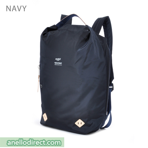 Anello Logo Print Oval Type Backpack Rucksack AT-B1625 Navy Japan Original Official Authentic Real Genuine Bag Free Shipping Worldwide Special Discount Low Prices Great Offer