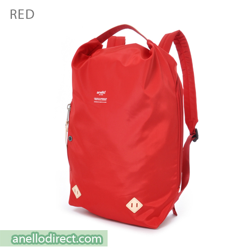 Anello Logo Print Oval Type Backpack Rucksack AT-B1625 Red Japan Original Official Authentic Real Genuine Bag Free Shipping Worldwide Special Discount Low Prices Great Offer