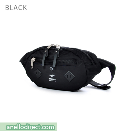 Anello Logo Print Polyester Shoulder Waist Bag AT-B1626 Black Japan Original Official Authentic Real Genuine Bag Free Shipping Worldwide Special Discount Low Prices Great Offer