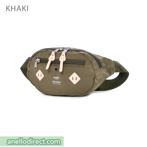Anello Logo Print Polyester Shoulder Waist Bag AT-B1626 Khaki Japan Original Official Authentic Real Genuine Bag Free Shipping Worldwide Special Discount Low Prices Great Offer