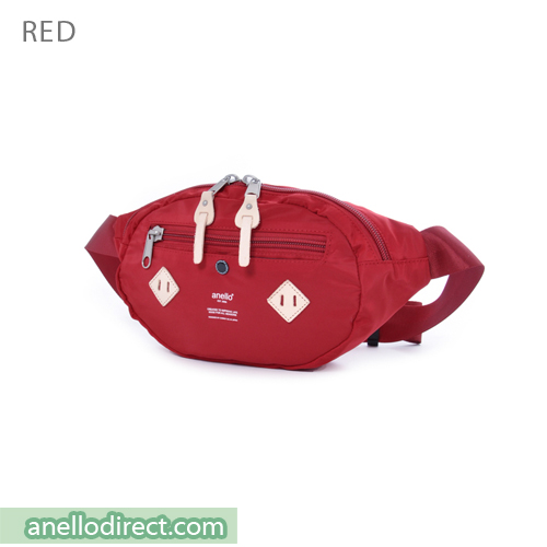 Anello Logo Print Polyester Shoulder Waist Bag AT-B1626 Red Japan Original Official Authentic Real Genuine Bag Free Shipping Worldwide Special Discount Low Prices Great Offer