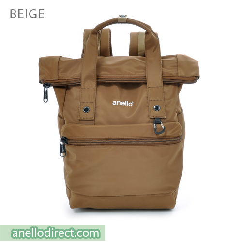 Anello Urban Street High Density Nylon Backpack Rucksack AT-B1681 Beige Japan Original Official Authentic Real Genuine Bag Free Shipping Worldwide Special Discount Low Prices Great Offer