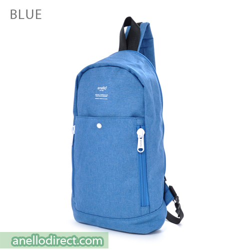 Anello Mottled Crossbody Vertical-Type Body Bag AT-B1717 Blue Japan Original Official Authentic Real Genuine Bag Free Shipping Worldwide Special Discount Low Prices Great Offer