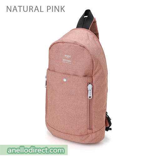 Anello Mottled Crossbody Vertical-Type Body Bag AT-B1717 Natural Pink Japan Original Official Authentic Real Genuine Bag Free Shipping Worldwide Special Discount Low Prices Great Offer