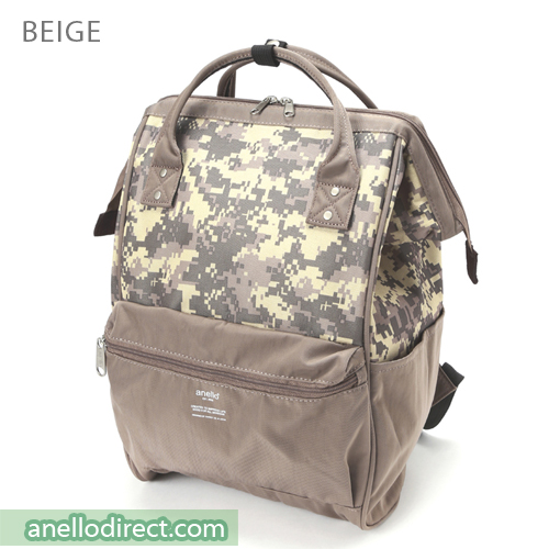 Anello Digital Camo Polyester Backpack Rucksack AT-B2241 Beige Japan Original Official Authentic Real Genuine Bag Free Shipping Worldwide Special Discount Low Prices Great Offer