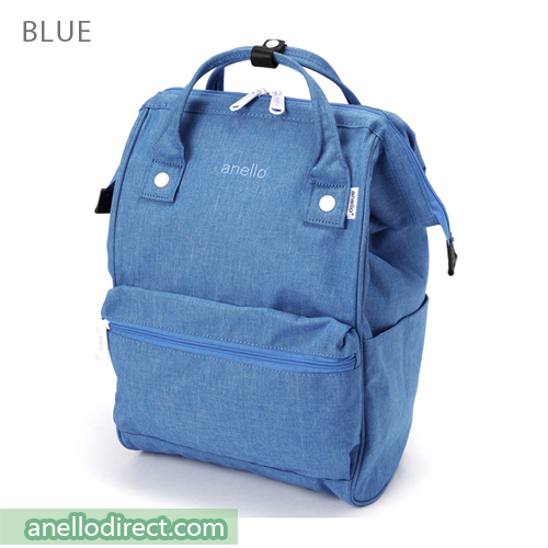Anello Mottled Polyester  Classic Backpack Regular Size AT-B2261 Blue Japan Original Official Authentic Real Genuine Bag Free Shipping Worldwide Special Discount Low Prices Great Offer