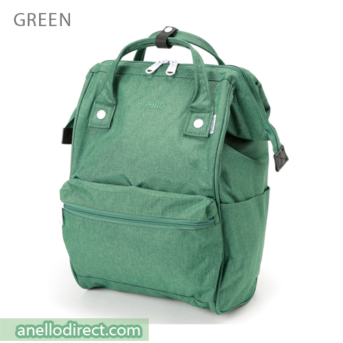 Anello Mottled Polyester  Classic Backpack Regular Size AT-B2261 Green Japan Original Official Authentic Real Genuine Bag Free Shipping Worldwide Special Discount Low Prices Great Offer