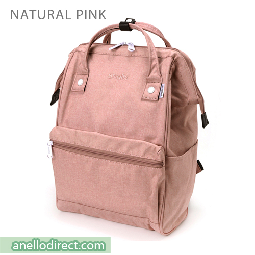 Anello Mottled Polyester  Classic Backpack Regular Size AT-B2261 Natural Pink Japan Original Official Authentic Real Genuine Bag Free Shipping Worldwide Special Discount Low Prices Great Offer