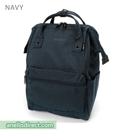 Anello Mottled Polyester  Classic Backpack Regular Size AT-B2261 Navy Japan Original Official Authentic Real Genuine Bag Free Shipping Worldwide Special Discount Low Prices Great Offer