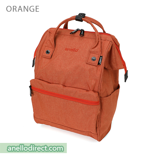 Anello Mottled Polyester  Classic Backpack Regular Size AT-B2261 Orange Japan Original Official Authentic Real Genuine Bag Free Shipping Worldwide Special Discount Low Prices Great Offer