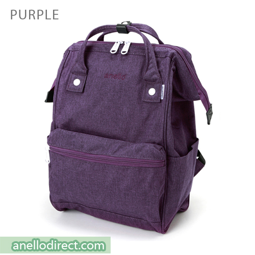Anello Mottled Polyester  Classic Backpack Regular Size AT-B2261 Purple Japan Original Official Authentic Real Genuine Bag Free Shipping Worldwide Special Discount Low Prices Great Offer