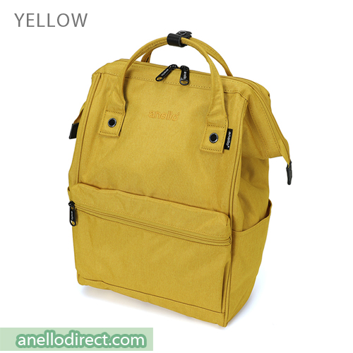 Anello Mottled Polyester  Classic Backpack Regular Size AT-B2261 Yellow Japan Original Official Authentic Real Genuine Bag Free Shipping Worldwide Special Discount Low Prices Great Offer
