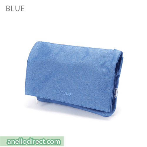 Anello Mottled Polyester 2 Way Clutch Folded Flap Shoulder Bag AT-B2263 Blue Japan Original Official Authentic Real Genuine Bag Free Shipping Worldwide Special Discount Low Prices Great Offer
