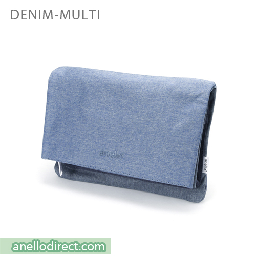 Anello Mottled Polyester 2 Way Clutch Folded Flap Shoulder Bag AT-B2263 Denim Multi Japan Original Official Authentic Real Genuine Bag Free Shipping Worldwide Special Discount Low Prices Great Offer