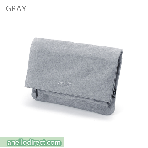 Anello Mottled Polyester 2 Way Clutch Folded Flap Shoulder Bag AT-B2263 Gray Japan Original Official Authentic Real Genuine Bag Free Shipping Worldwide Special Discount Low Prices Great Offer