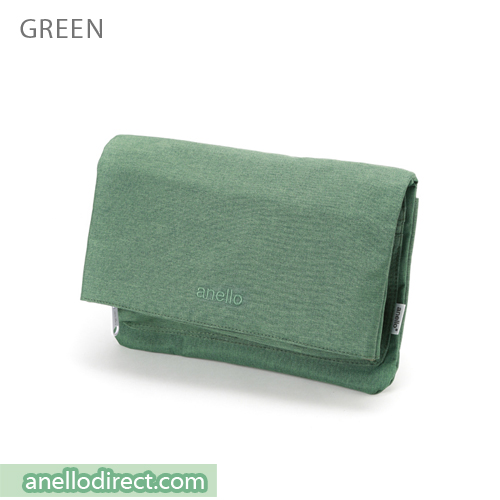 Anello Mottled Polyester 2 Way Clutch Folded Flap Shoulder Bag AT-B2263 Green Japan Original Official Authentic Real Genuine Bag Free Shipping Worldwide Special Discount Low Prices Great Offer