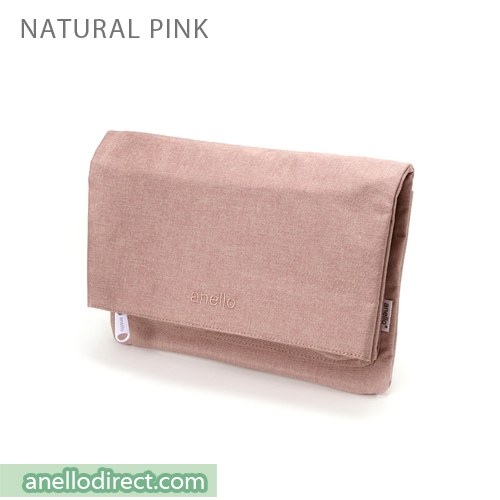 Anello Mottled Polyester 2 Way Clutch Folded Flap Shoulder Bag AT-B2263 Natural Pink Japan Original Official Authentic Real Genuine Bag Free Shipping Worldwide Special Discount Low Prices Great Offer