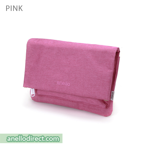 Anello Mottled Polyester 2 Way Clutch Folded Flap Shoulder Bag AT-B2263 Pink Japan Original Official Authentic Real Genuine Bag Free Shipping Worldwide Special Discount Low Prices Great Offer