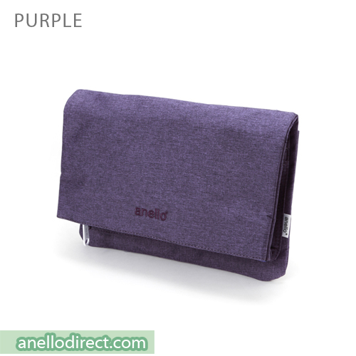 Anello Mottled Polyester 2 Way Clutch Folded Flap Shoulder Bag AT-B2263 Purple Japan Original Official Authentic Real Genuine Bag Free Shipping Worldwide Special Discount Low Prices Great Offer