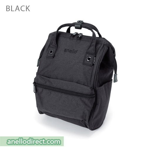 Anello Mottled Polyester Classic Backpack Mini Size AT-B2264 Black Japan Original Official Authentic Real Genuine Bag Free Shipping Worldwide Special Discount Low Prices Great Offer