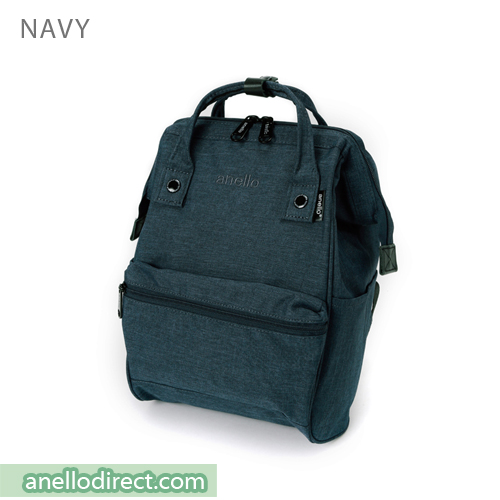 Anello Mottled Polyester Classic Backpack Mini Size AT-B2264 Navy Japan Original Official Authentic Real Genuine Bag Free Shipping Worldwide Special Discount Low Prices Great Offer