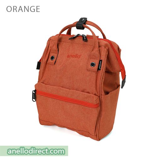 Anello Mottled Polyester Classic Backpack Mini Size AT-B2264 Orange Japan Original Official Authentic Real Genuine Bag Free Shipping Worldwide Special Discount Low Prices Great Offer