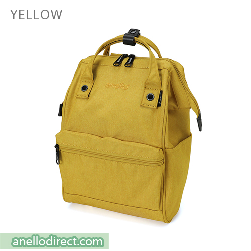 Anello Mottled Polyester Classic Backpack Mini Size AT-B2264 Yellow Japan Original Official Authentic Real Genuine Bag Free Shipping Worldwide Special Discount Low Prices Great Offer