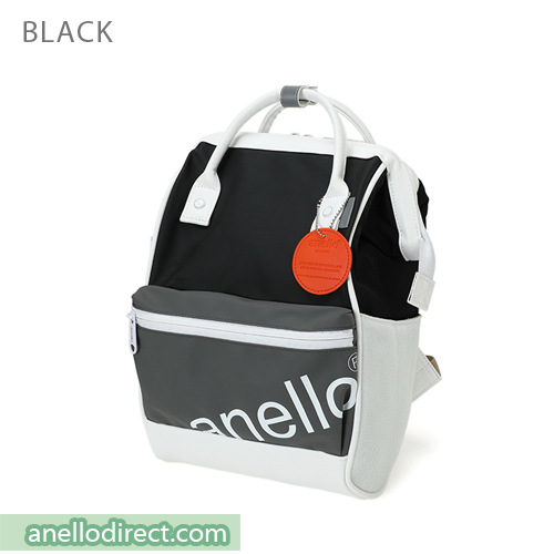 Anello 90s Polyurethane (PU) Backpack Rucksack Mini Size AT-B2791 Black Japan Original Official Authentic Real Genuine Bag Free Shipping Worldwide Special Discount Low Prices Great Offer
