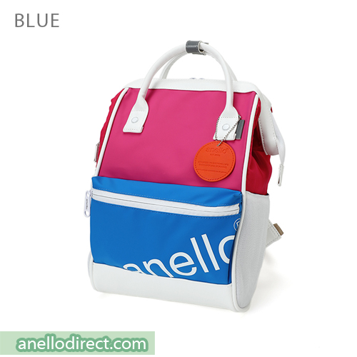 Anello 90s Polyurethane (PU) Backpack Rucksack Mini Size AT-B2791 Blue Japan Original Official Authentic Real Genuine Bag Free Shipping Worldwide Special Discount Low Prices Great Offer