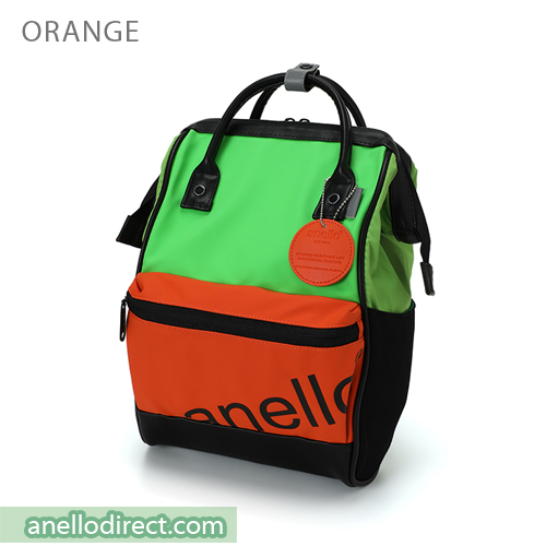 Anello 90s Polyurethane (PU) Backpack Rucksack Mini Size AT-B2791 Orange Japan Original Official Authentic Real Genuine Bag Free Shipping Worldwide Special Discount Low Prices Great Offer