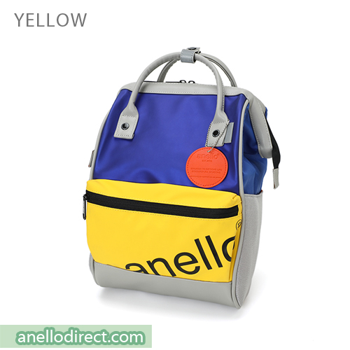 Anello 90s Polyurethane (PU) Backpack Rucksack Mini Size AT-B2791 Yellow Japan Original Official Authentic Real Genuine Bag Free Shipping Worldwide Special Discount Low Prices Great Offer